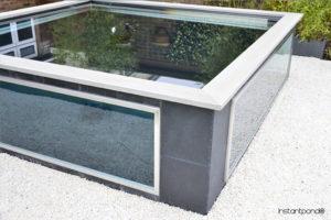 bassin avec vitre préfabriqué