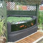 bassin de jardin avec vitre