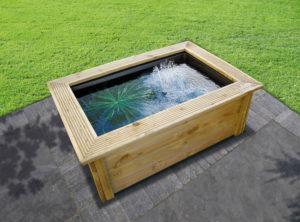 bassin préformé hors sol