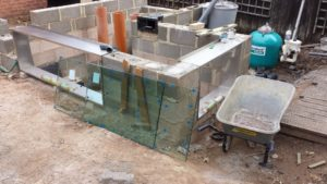construction bassin avec vitre
